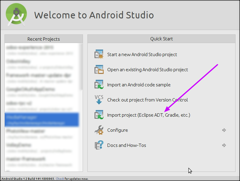 Android Studio - How To Import Project